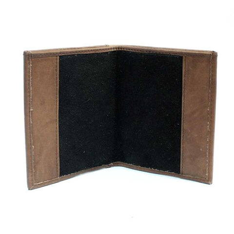 Brown Matte Wallet & Blue-Book Holder For Men