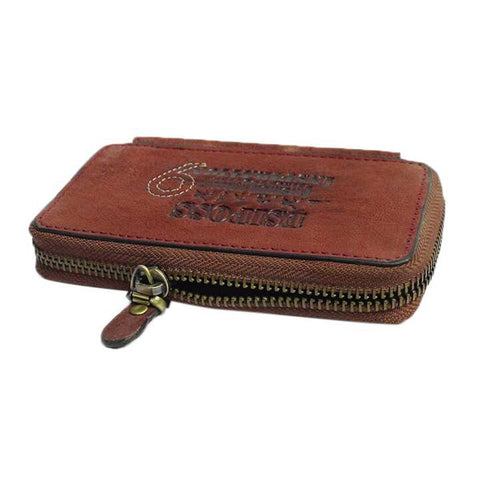 Reddish Brown Genuine Leather Key Holder