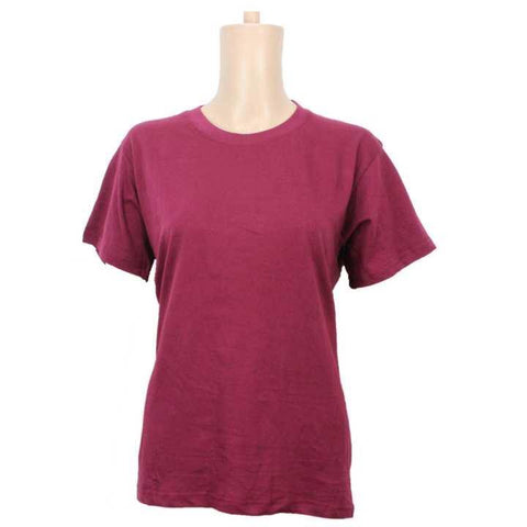 Pack Of Two Cotton T-Shirt For Women - Plum/Orange