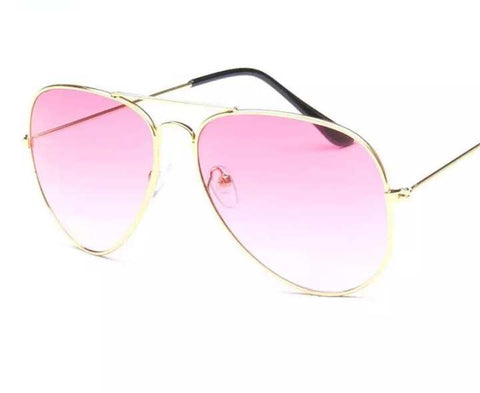 Pilot Aviation Gold Pink Sunglasses Men Women Glasses UV 400