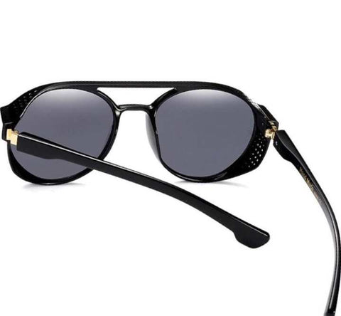 New Fashion SteamPunk Sunglasses Men & Woman  Round Side Mesh Style Sun Glasses Brand Designer Vintage PunkNew Fashion SteamPunk Sunglasses Men & Woman  Round Side Mesh Style Sun Glasses Brand Designer Vintage Punk New Fashion SteamPunk Sunglasses Men