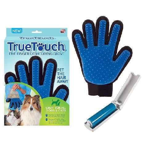 True Touch Five Finger Deshedding Glove