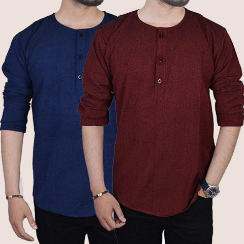 Kurtha Tshirt For Men 2 pc