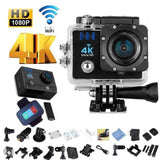 H16-4 4K Ultra HD Waterproof Sports Camera WiFi Video Camera Action Camcorder DV