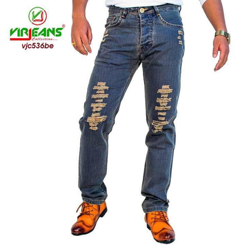 Combo Offer 2 pc Virjeans Non-Stretchable Grunge Jeans Pant (VJC 536) 2 pc