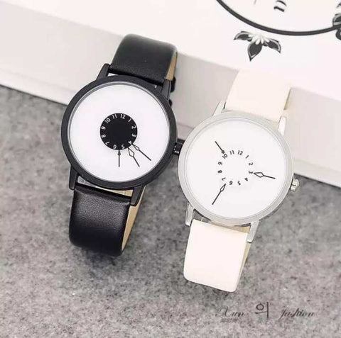 Best Couple Watch with Leather Strap -Unisex