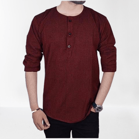 Red Kurtha Tshirt For Men / Women