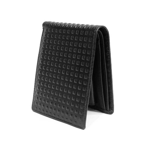 Black 2 Folding Black Dotted Wallet For Men