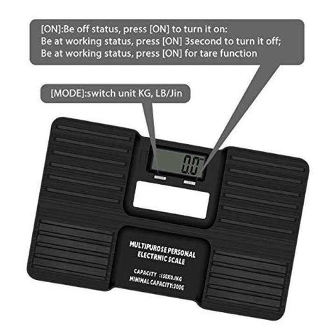 HILLPOW Multi-Purpose Digital Scale With Auto-ON Sensor, Low Battery Alarm, LCD Display (0.3-150 Kgs)