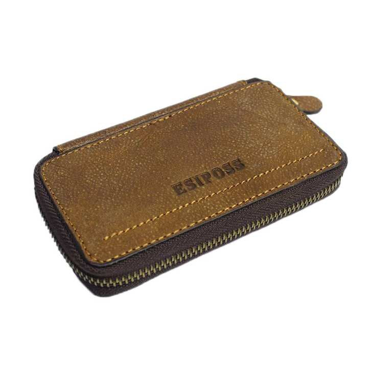 Coffee Brown Esiposs Genuine Leather Key Holder