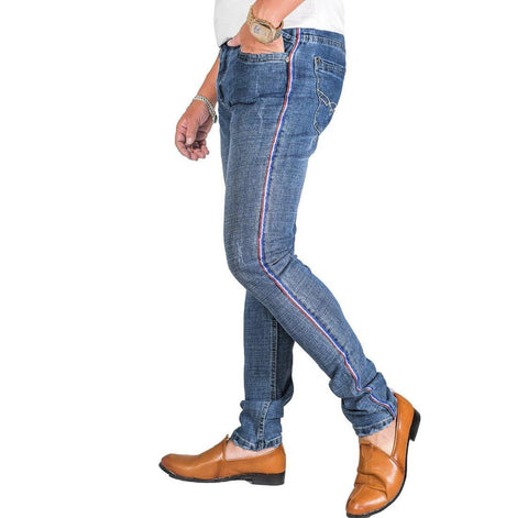 Virjeans Denim Stretchable Skinny Fit Choose Pant (Vjc 699) Mid Blast