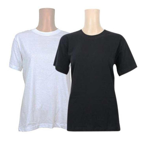 Pack Of 2 Cotton T-Shirt For Women -White/Black