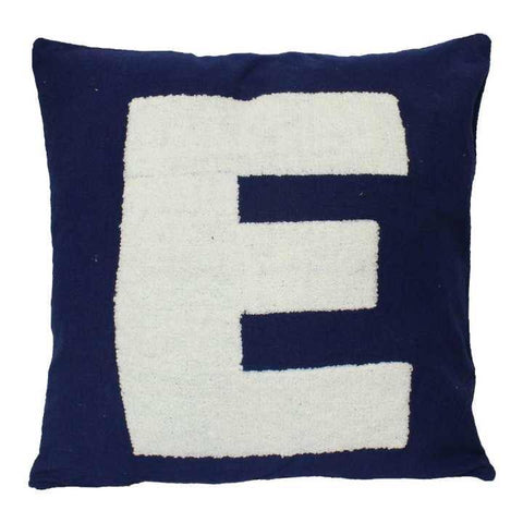Pack of 5 Blue 'E' Printed Cushion Cover Pack of 5 Blue 'E' Printed Cushion Cover