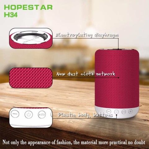 Hopestar H34 Handfree Mini Bluetooth Portable Wireless Speaker Waterproof Stereo