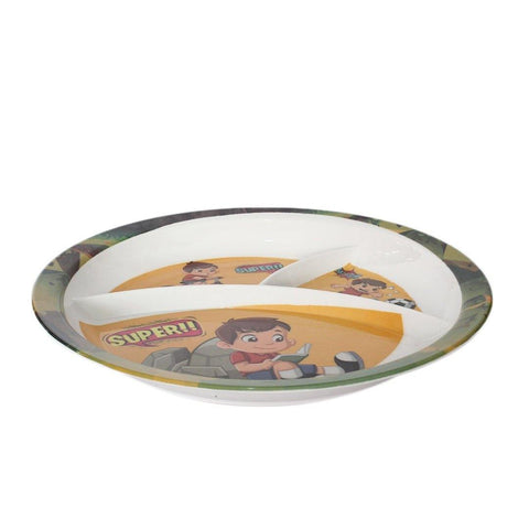 "Kids Cartoon Half Plate 6"" 1pc"