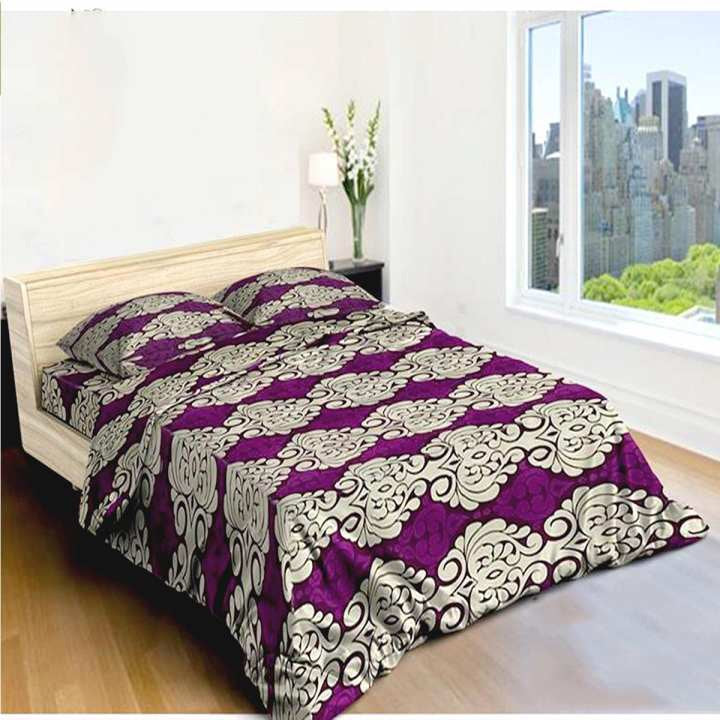 Purple Brick Bedsheet With Blanket Cover