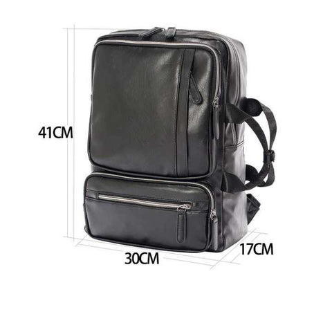 Pu Leather Casual Tone Backpack