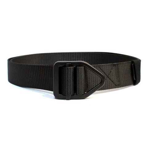 Black Solid Belt For Men