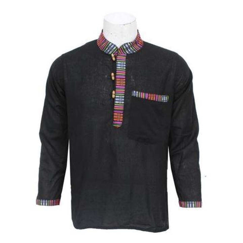 Black Bhutani Designed Kurta Shirt For Men / Women