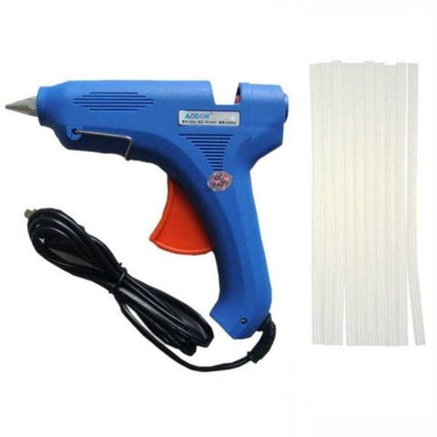 Electric Hot Glue Gun 80W With 10Pcs Glue Sticks
