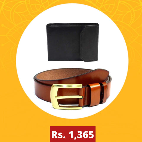 Combo Belt and Wallets For Men