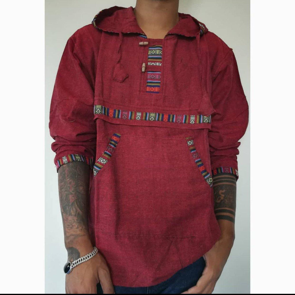 Marron Bhutani Hoodie Shirt For Men