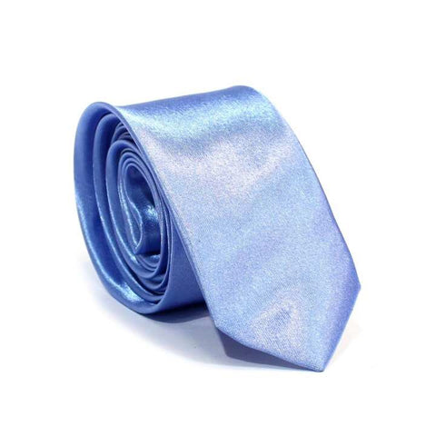 L.Blue Solid Shiny Tie For MenL.Blue Solid Shiny Tie For Men L.Blue Solid Shiny Tie For Men