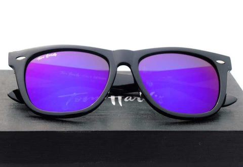 Tomhardy (2140) Wayfarer Blue Mercury Sunglasses - Blue