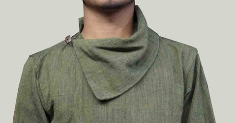 Green Korean Styled Daura For Men