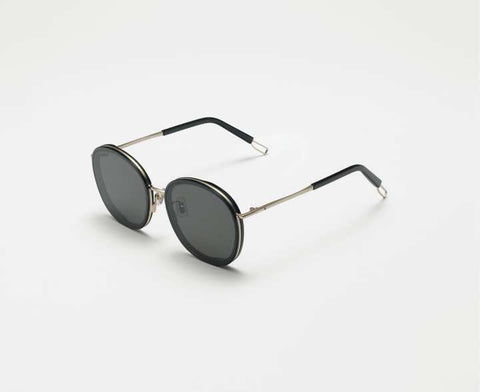Golden Round Frame Black Shaded Sunglass For woman