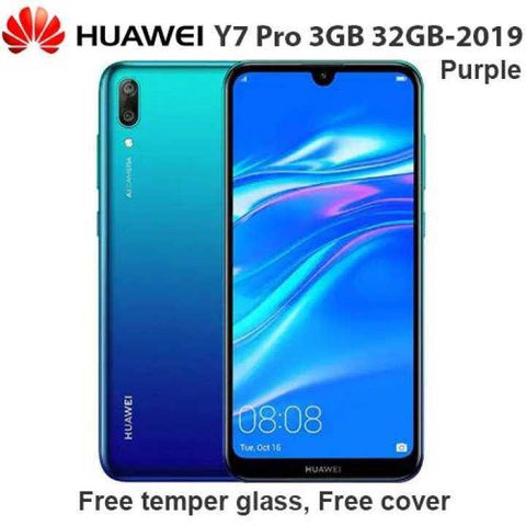 Huawei Y7 Pro 2019, 3GB Ram 32GB Rom 3 Camera, 4000Mh Battery