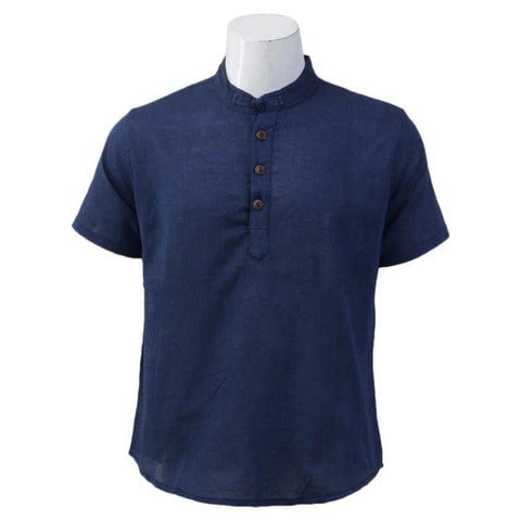 Blue Short Sleeve T-Shirt For Men / Women