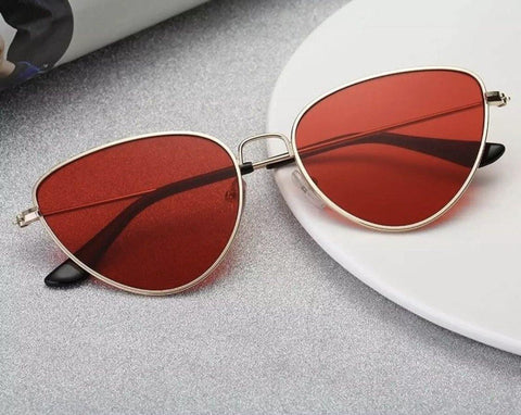 Exaggerated cat eyed neutral lenses  Sunglasses