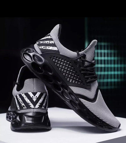 Comfortable Mens Sports Running Shoes Black/White