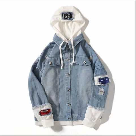 Autumn Trend hooded Denim Jacket
