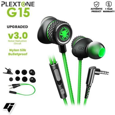 PLEXTONE G15 V3.0 IN-EAR GAMING HEADSET UPGRADED VERSION ERGONOMIC DESIGN WITH MICROPHONE price in Nepal