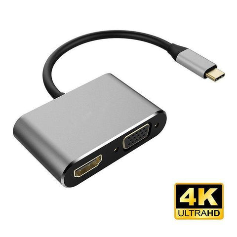 2-in-1 USB Type C to HDMI VGA Adapter