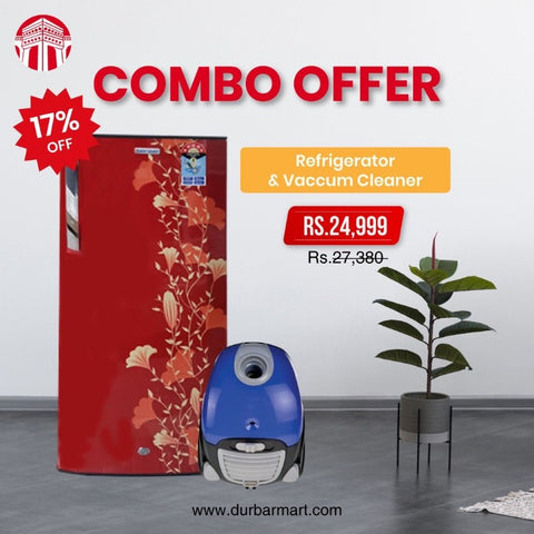 Combo Offer Refrigerator & Vaccum Cleaner