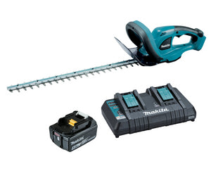 Makita 18v LXT Hedge Trimmer Kit 1x5.0Ah & Dual Port Charger