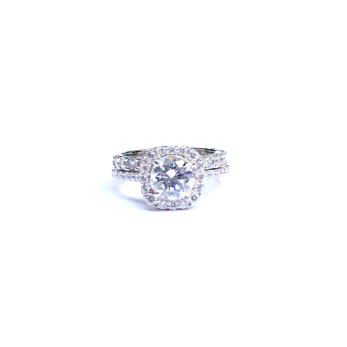 Arcadia Cubic Zirconia Ring with Stackable Band