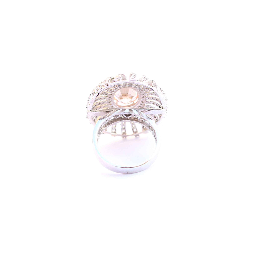 Aurora Silver Big Cocktail Ring - Boldiful