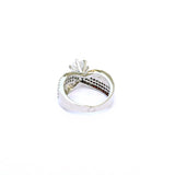 Bow Sterling Silver Solitaire Ring - Boldiful