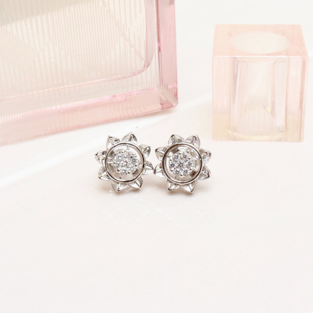 Burgeon Silver Stud Earrings - Boldiful