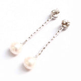 Caprice Silver Earrings With Pearl - Boldiful