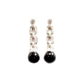 Clique Black Spinel Ball Drop Earrings