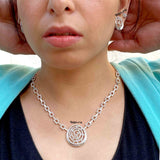 Cochlear Sterling Silver Necklace with Earrings - Boldiful