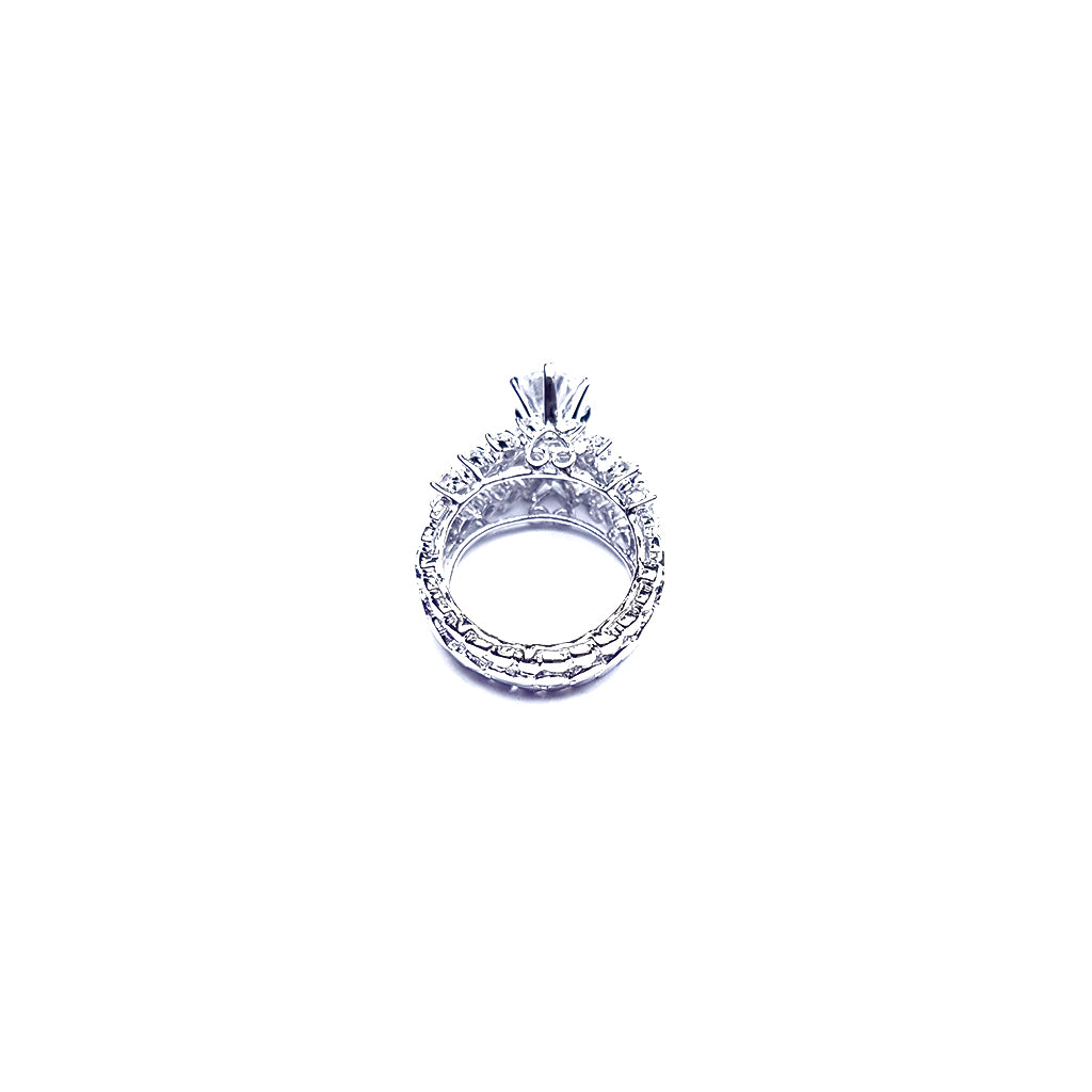 Cocktail Fancy Solitaire Ring in Sterling Silver - Boldiful