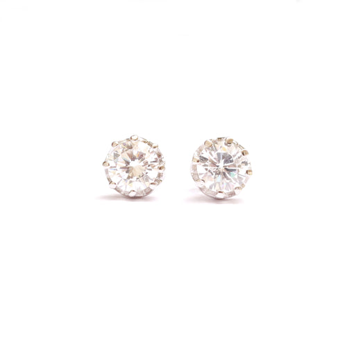 Coronet sterling silver stud earrings are perfect for daily wear and you would love to keep them forever