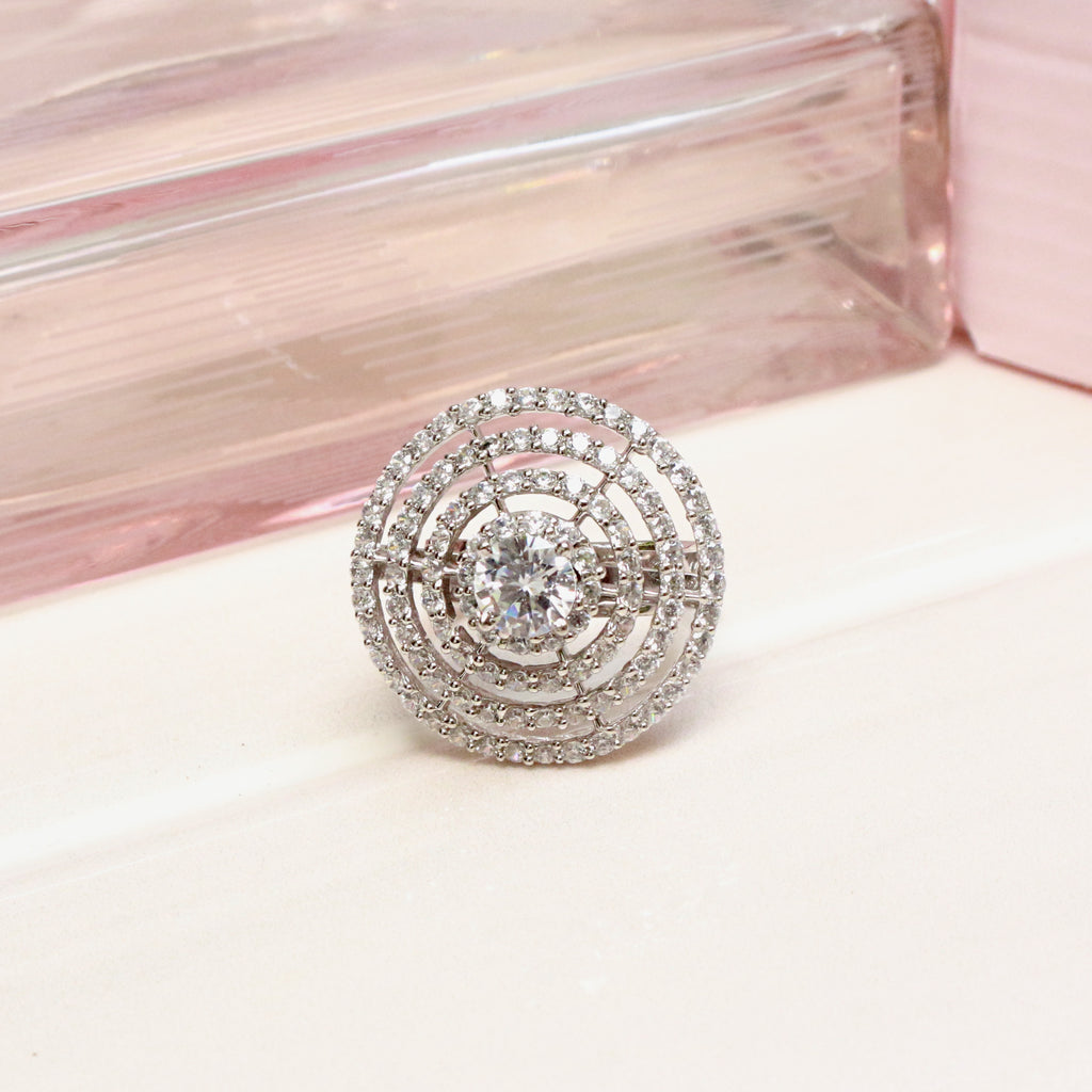 Cupola Solitaire Cocktail Ring - Boldiful