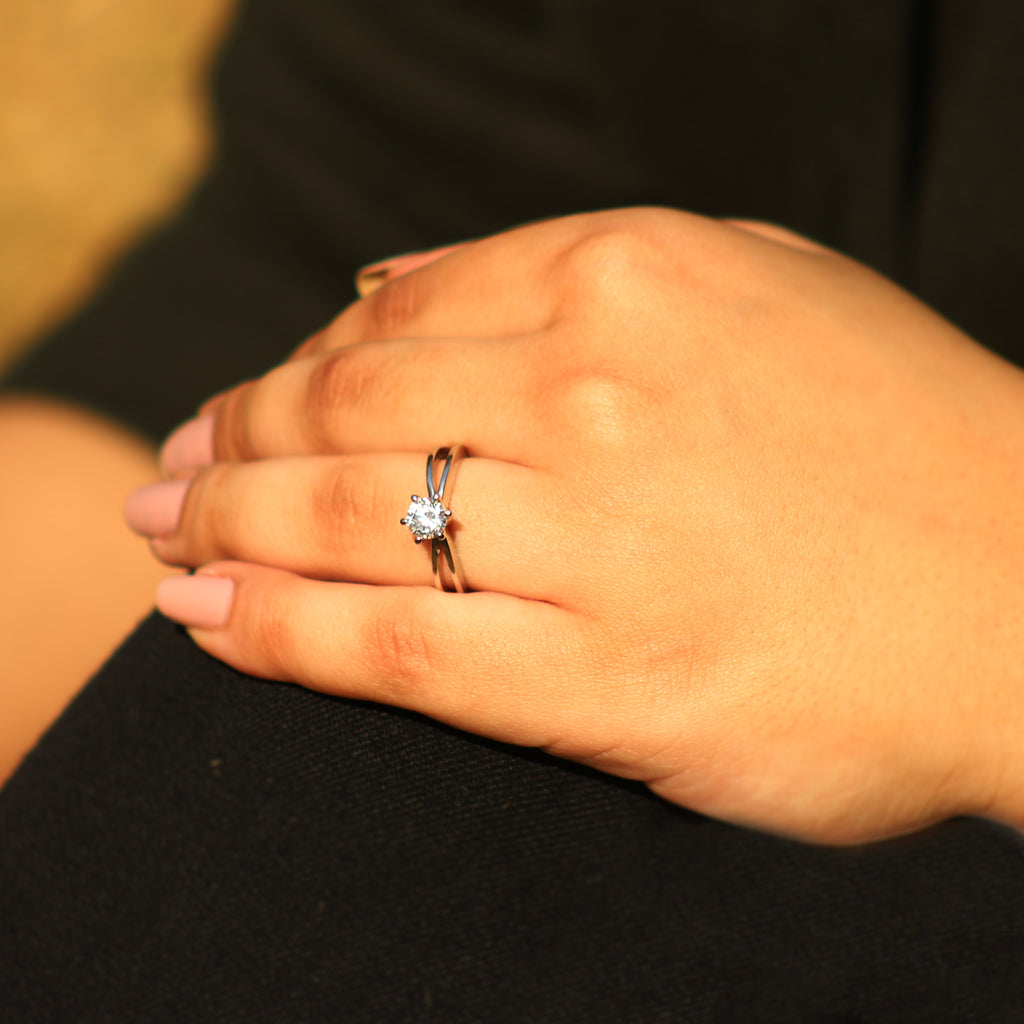 Daily Wear Simple Solitaire Ring - Boldiful